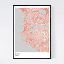 Load image into Gallery viewer, Map of Oulu, Finland