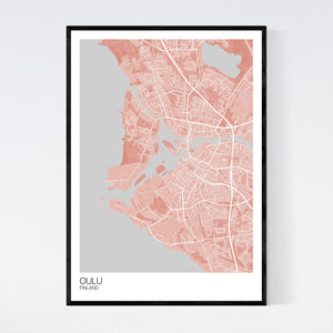 Map of Oulu, Finland