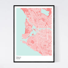 Load image into Gallery viewer, Oulu City Map Print
