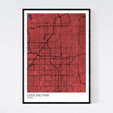 Load image into Gallery viewer, Overland Park City Map Print