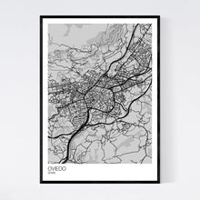 Load image into Gallery viewer, Oviedo City Map Print