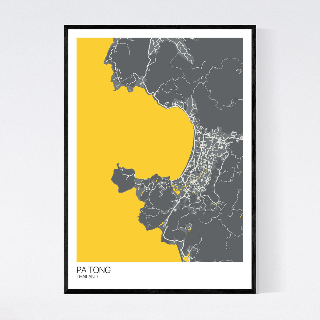 Pa Tong Region Map Print