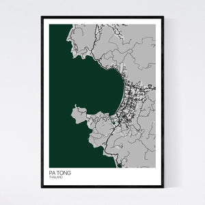Map of Pa Tong, Thailand