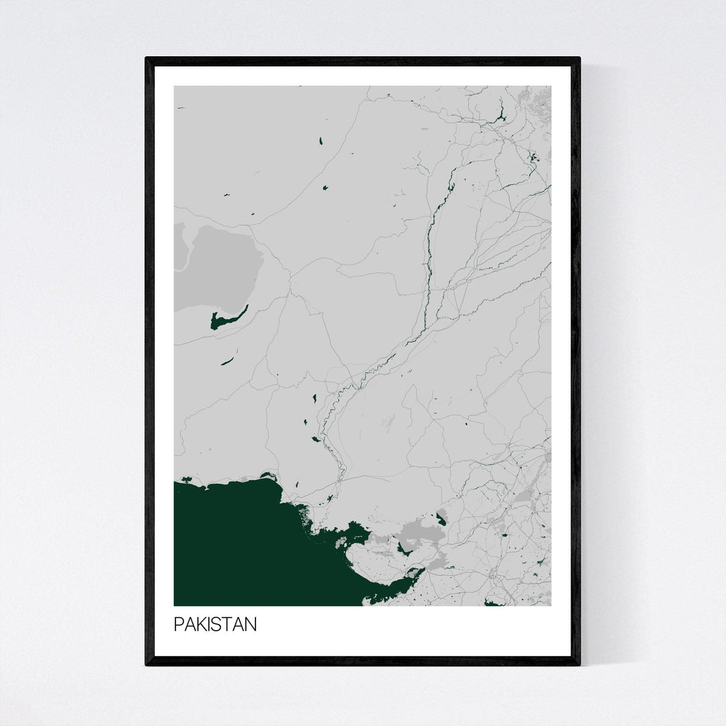 Pakistan Country Map Print