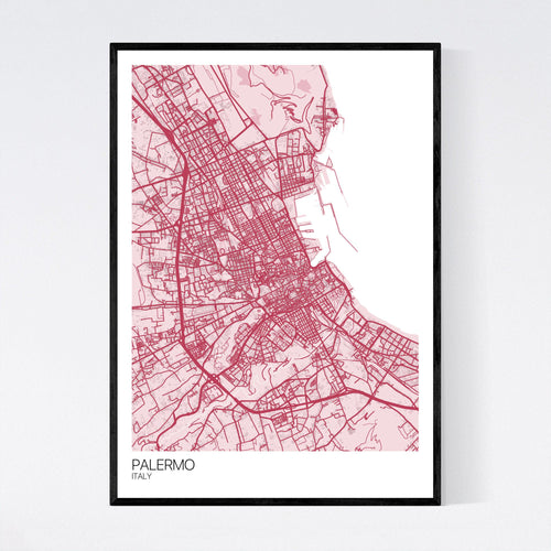 Map of Palermo, Italy