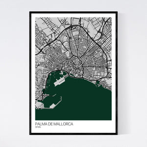 Palma de Mallorca City Map Print