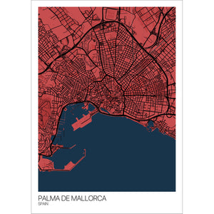 Map of Palma de Mallorca, Spain