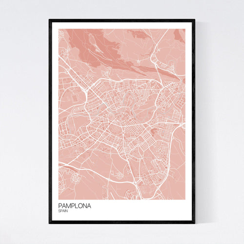 Map of Pamplona, Spain