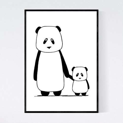 Pandas Little and Large Print