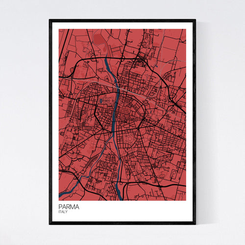 Map of Parma, Italy