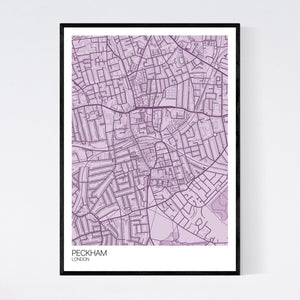 Peckham Neighbourhood Map Print