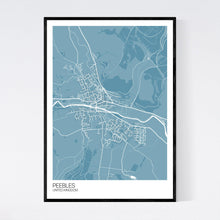 Load image into Gallery viewer, Peebles City Map Print