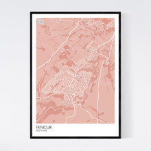 Load image into Gallery viewer, Penicuik Town Map Print