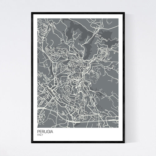 Map of Perugia, Italy