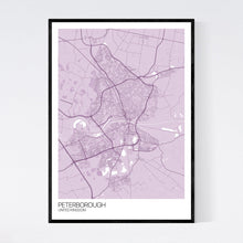 Load image into Gallery viewer, Peterborough City Map Print