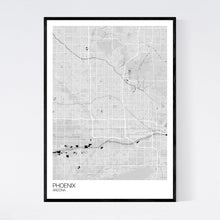 Load image into Gallery viewer, Phoenix City Map Print