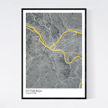 Load image into Gallery viewer, Map of Pittsburgh, Pennsylvania