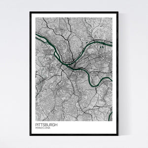 Pittsburgh City Map Print