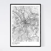Load image into Gallery viewer, Pittsburgh City Map Print