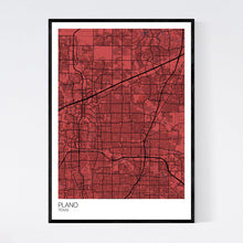 Load image into Gallery viewer, Plano City Map Print