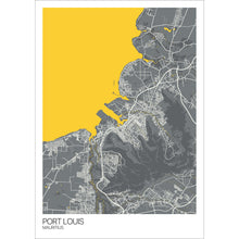 Load image into Gallery viewer, Map of Port Louis, Mauritius