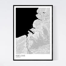 Load image into Gallery viewer, Port Louis City Map Print