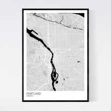 Load image into Gallery viewer, Portland City Map Print