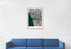 Map of Porto, Portugal