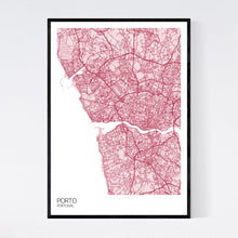 Load image into Gallery viewer, Porto City Map Print