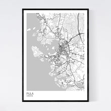 Load image into Gallery viewer, Pula City Map Print