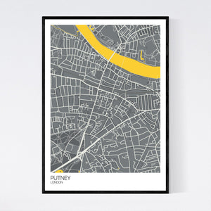 Putney Neighbourhood Map Print