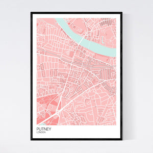 Map of Putney, London