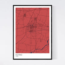 Load image into Gallery viewer, Puyang City Map Print