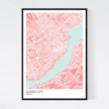 Load image into Gallery viewer, Quebec City City Map Print