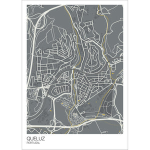 Map of Queluz, Portugal