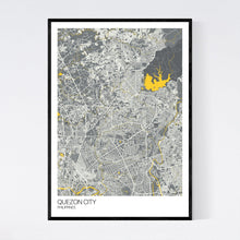 Load image into Gallery viewer, Quezon City City Map Print