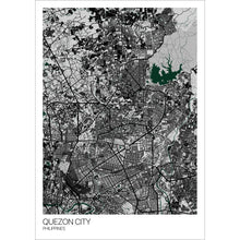Load image into Gallery viewer, Map of Quezon City, Philippines