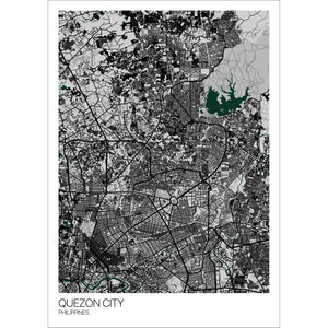 Map of Quezon City, Philippines