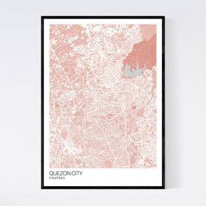 Quezon City City Map Print