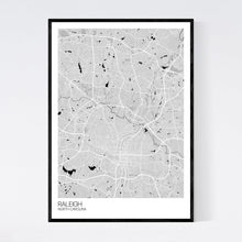 Load image into Gallery viewer, Raleigh City Map Print