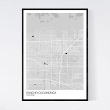 Load image into Gallery viewer, Rancho Cucamonga City Map Print