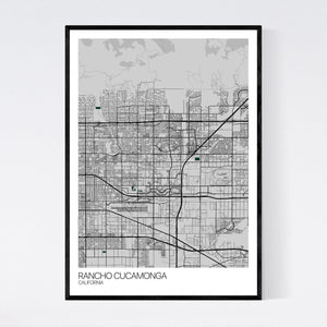 Rancho Cucamonga City Map Print