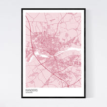 Load image into Gallery viewer, Randers City Map Print