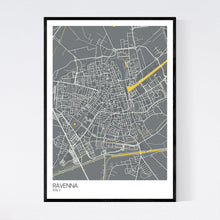 Load image into Gallery viewer, Ravenna City Map Print