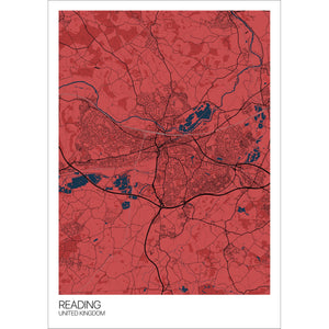 Map of Reading, United Kingdom
