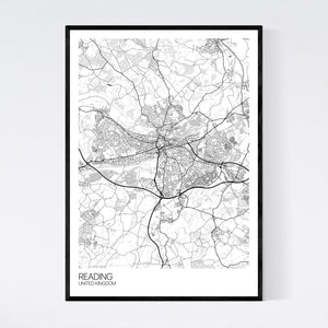Reading City Map Print