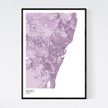 Load image into Gallery viewer, Recife City Map Print
