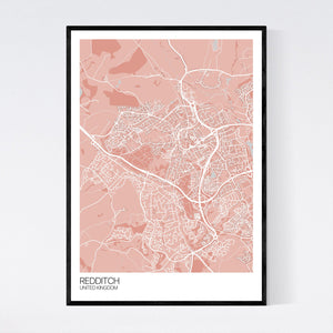 Map of Redditch, United Kingdom