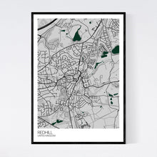 Load image into Gallery viewer, Map of Redhill, United Kingdom