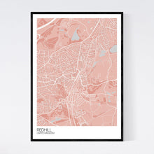 Load image into Gallery viewer, Redhill City Map Print